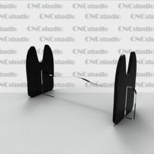 D-8 Подставка для столовых приборов Акрил 3мм+цветной 3мм. Габариты 150х70х50