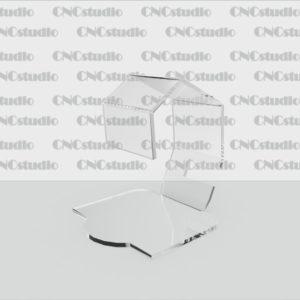 Q-4 Подставка под часы акрил 3мм. Габариты 90х100х103