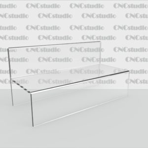 Q-6 Подставка под ремни акрил 3 мм. Габариты 200х100х86