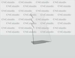 U-18 Подствка для бижутерии. Акрил 1,8 мм. Габариты 130х185х67 мм.