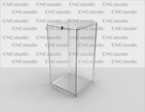 Box-11 Ящик для пожертвования. Материал акрил 3 мм. Габариты 400х800х400 мм.