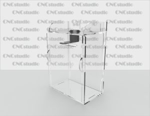 Box-40 Ящик для сбора средств. Материал акрил 1,8 мм. Габариты 100х140х160мм.