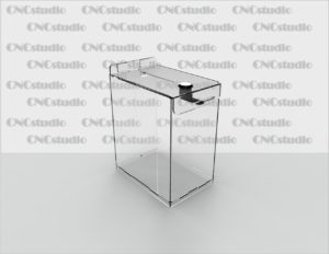 Box-5 Ящик для пожертвования боковой акрил 2 мм. Габариты 150х200х100 мм.