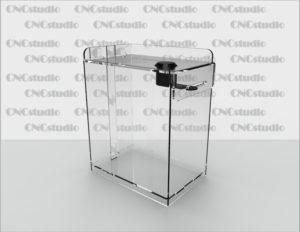 Box-51 Ящик для сбора средств. Материал акрил 1,8 мм. Габариты 120х150х80 мм.