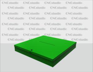 Box-52.1 Ящик для сбора средств. Материал акрил 3 мм цветной. Габариты 700х100х700 мм.